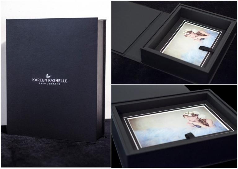 Folio boxes by Kareen Rashelle Photography